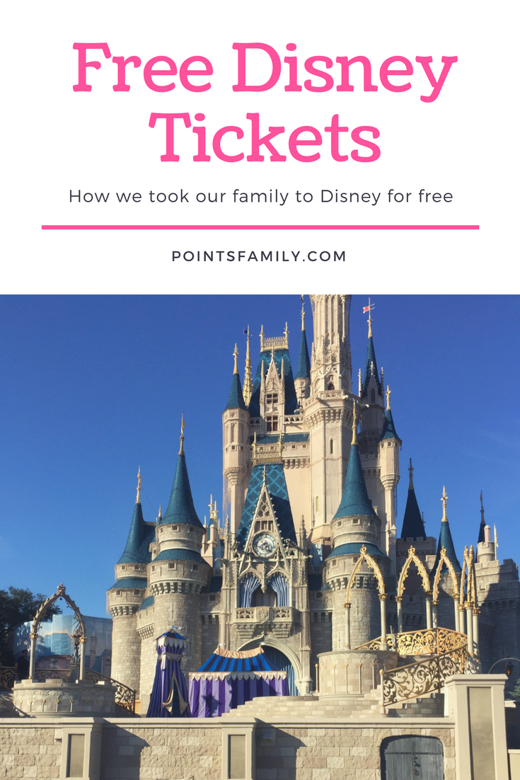 How we took our family to Disney for free. A guide to getting free Disney tickets.