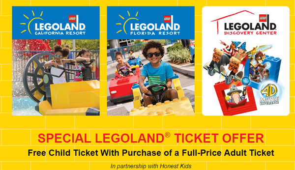 Legoland Free Kids Ticket Offer
